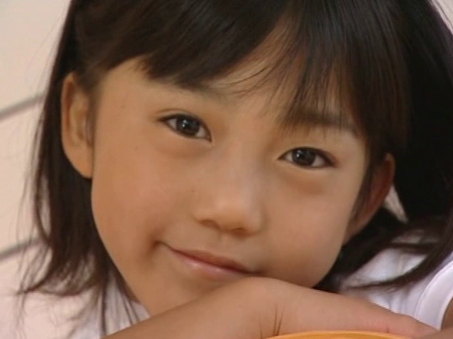 U12JSジュニアアイドル朝水れいちゃんの顔アップ