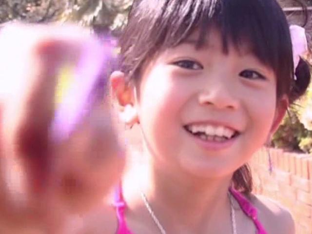 微笑むU12JSジュニアアイドル山口藍ちゃん